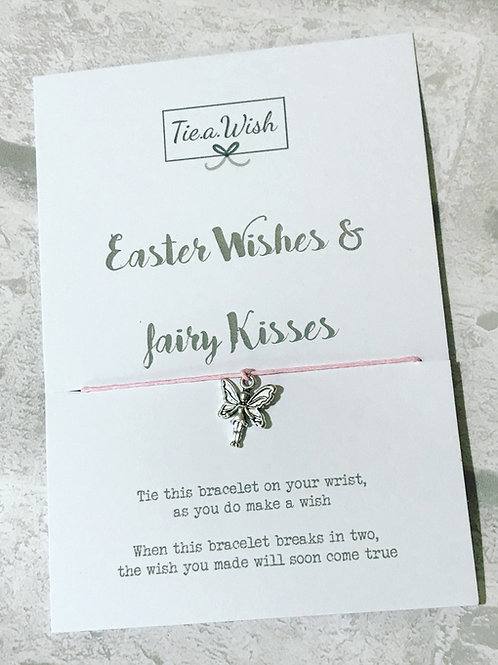 Easter wishes and fairy kisses wish bracelet