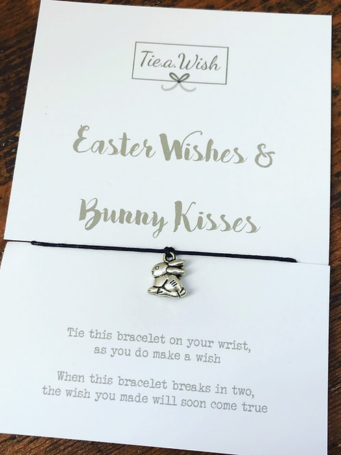 Easter wishes and bunny kisses wish bracelet