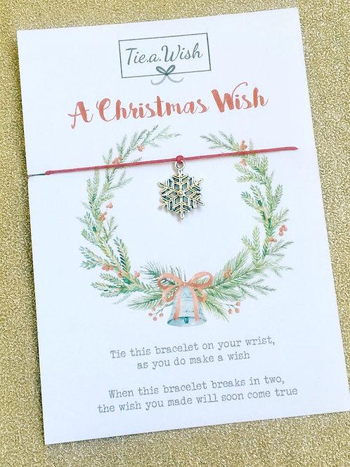 Christmas Wreath Wish Bracelet