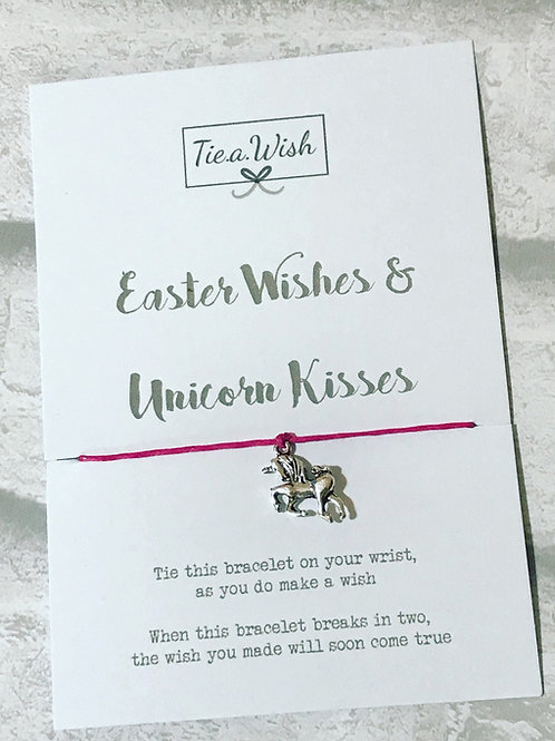 Easter wishes and unicorn kisses wish bracelet