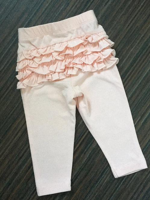 Primark pale pink ruffle bum leggings 3-6 months