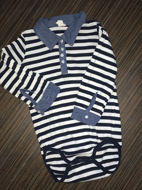 H&M navy and white striped bodysuit 18-24 months