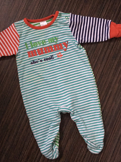 Next striped sleepsuit up to 1 month