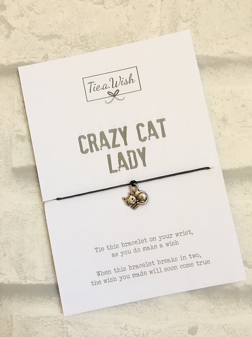 Crazy Cat Lady Wish Bracelet
