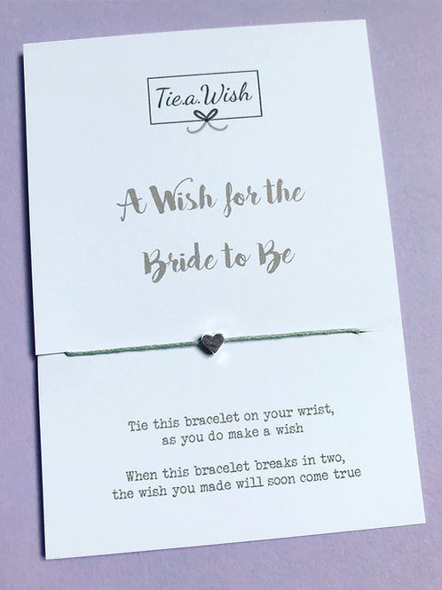 A wish for the bride to be wish bracelet