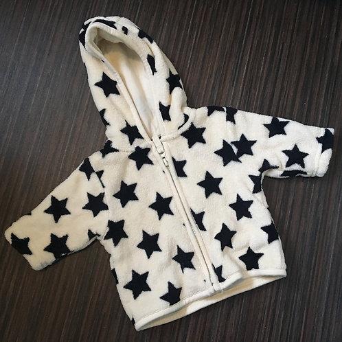 Next fleece star print zip up top size 0-3