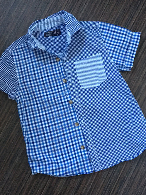 Next blue gingham checked shirt 4-5 years