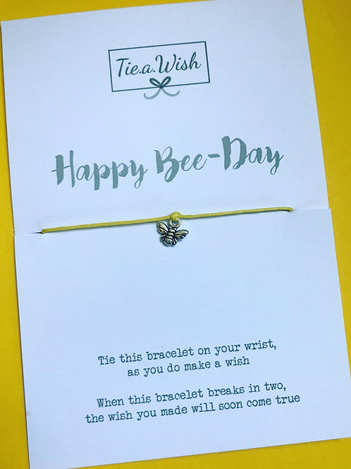 Happy Bee-Day wish bracelet