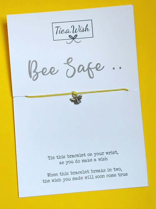 Bee Safe wish bracelet