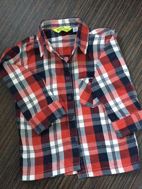 Regatta age 3-4 red, navy & white checked shirt