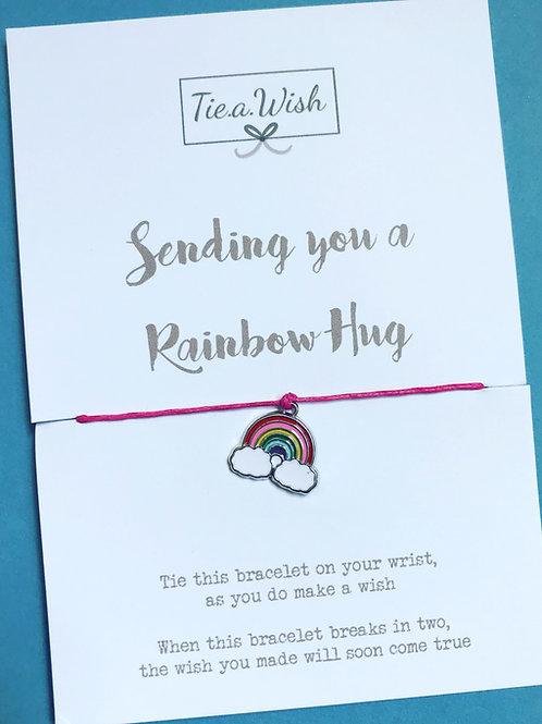 Rainbow hug wish bracelet