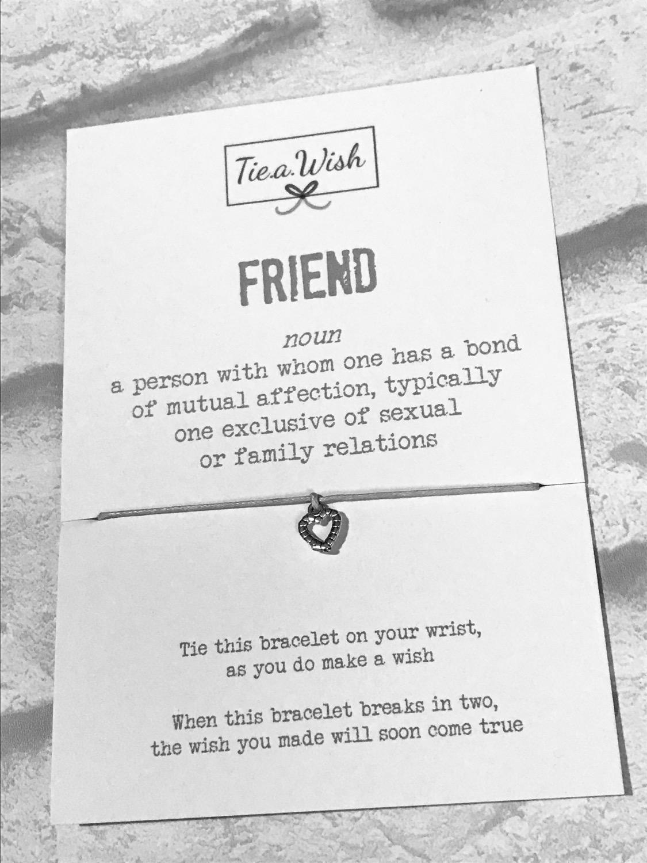 Friend wish bracelet