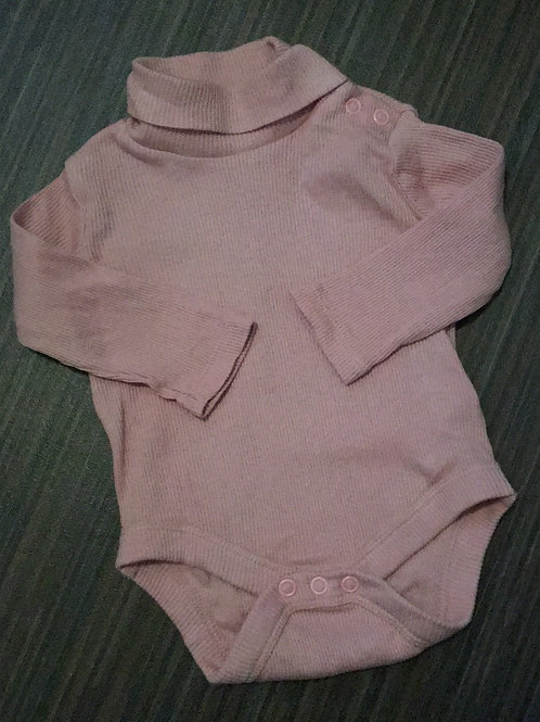 F&F dusky pink roll neck bodysuit up to 1 month