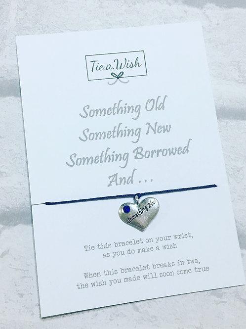 Something Blue Wish Bracelet