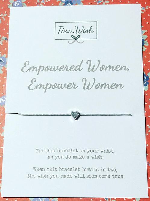 Empowered women wish bracelet