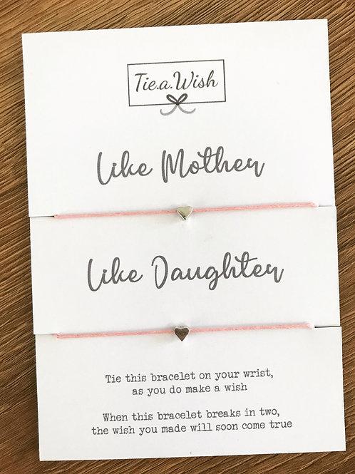 Mother & Daughter Duo Wish Bracelet