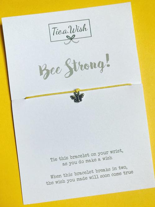 Bee strong wish bracelet