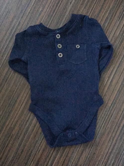 F&F navy blue bodysuit 0-3 months