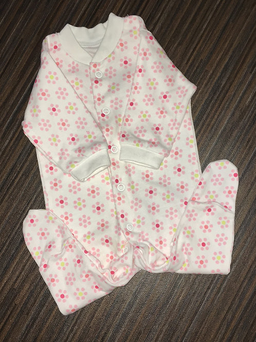 F&F up to 1 months flower sleepsuit