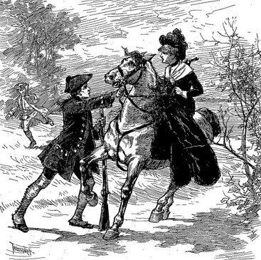 Illustration of Emily Geiger's Ride Thanks to Project Gutenberg