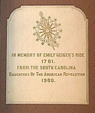 Plaque on door in the rotunda at the SC State House