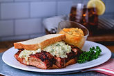 Rib Sandwich with slaw combo