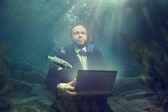 Bilde tatt under vann NRV/NRA, for Innlandet Reklamebyrå, foto tatt av Ricardofoto