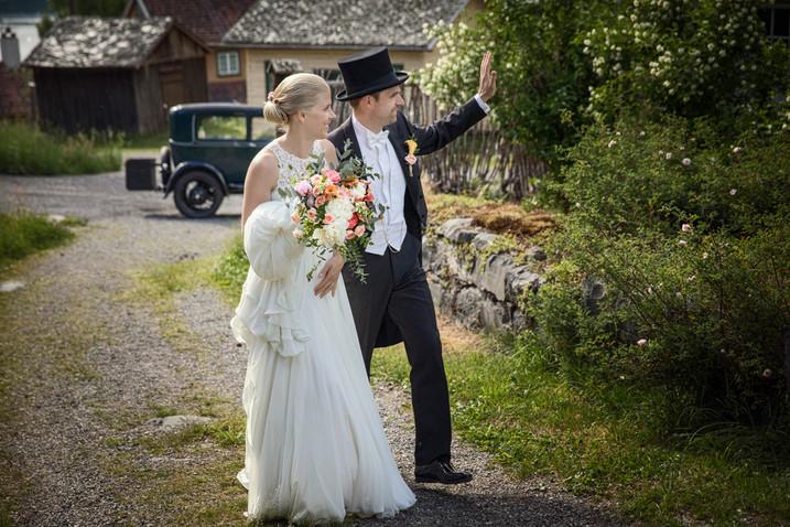 Brudepar på Maihaugen