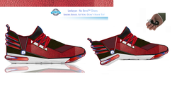 Leelayan Collage Sneaker Men's Red 3a -