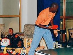 MJ. Bird. Beer. Ping Pong.