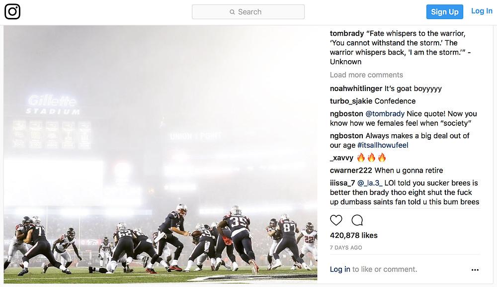 Tom Brady - Instagram Post