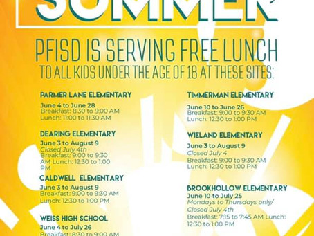 Free Meals For Kids All Summer