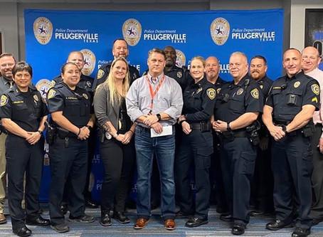 Pflugerville Blue Guardian Program Partners With Backpack Friends