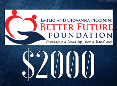 The Better Future Foundation Grants Backpack Friends $2000!