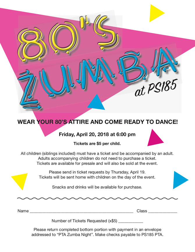 Remember the 80's? Zumba does!!