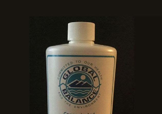 bottle of Global Balance Laundry Liquid
