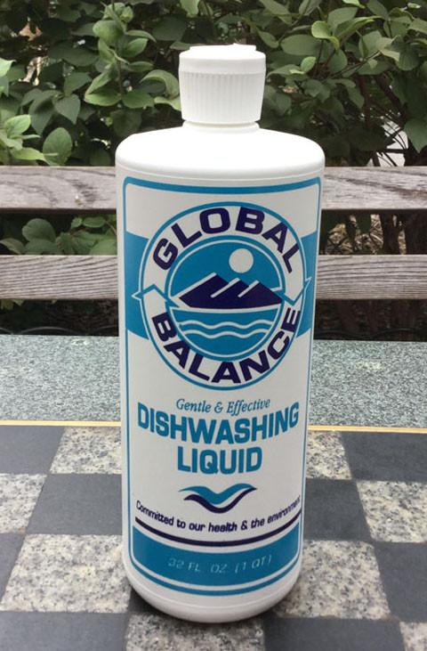 bottle of Global Balance Dishwashing Liquid