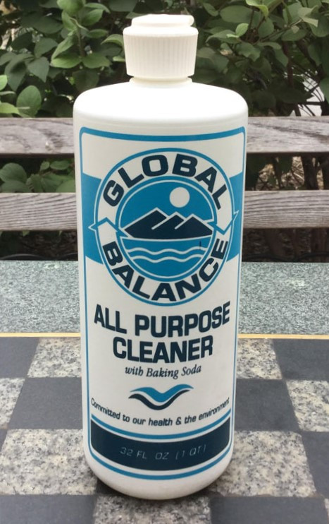 a bottle of Global Balance All Purpose Cleaner