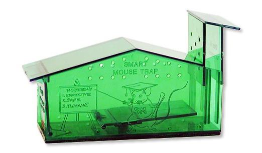 """6"""" plastic no kill mouse trap."""
