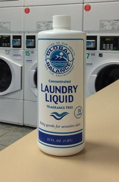 bottle of Global Balance Laundry Liquid