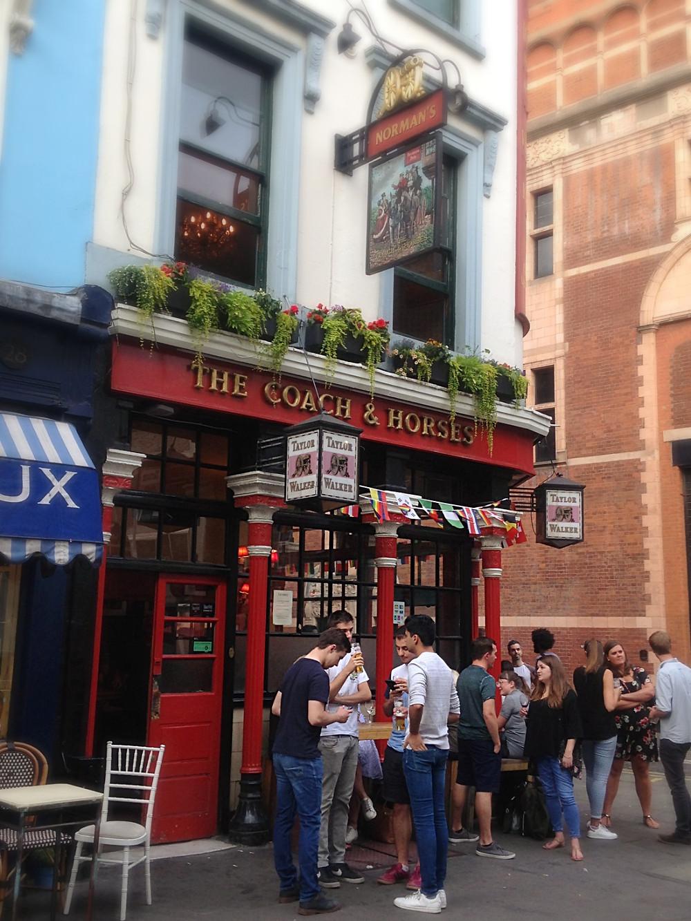 exterior of The Coach & Horses pub, a vegetarian/vegan pub.