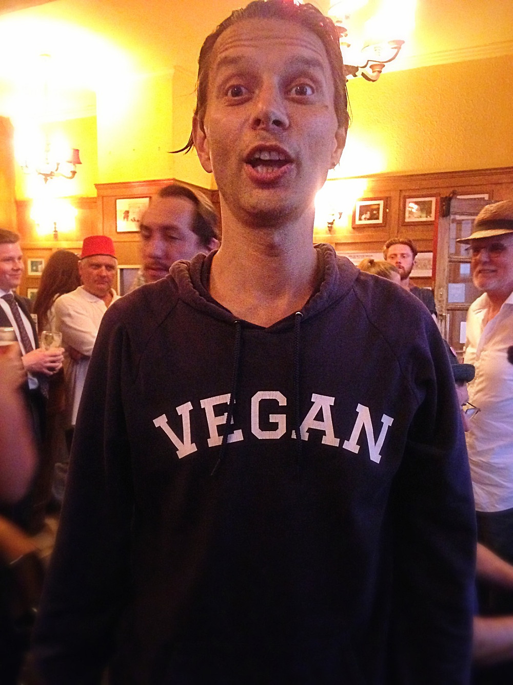 one of the regulars at The Coach & Horses sing-a-long