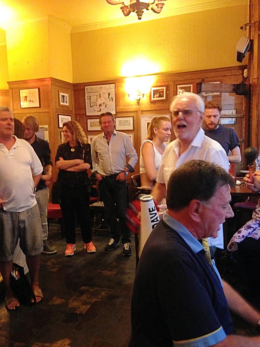 pub sing-a-long.  The Coach & Horses