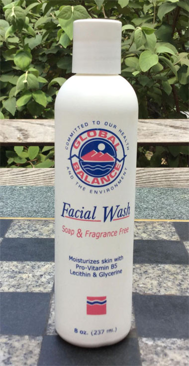 a bottle of Global Balance Facial Wash