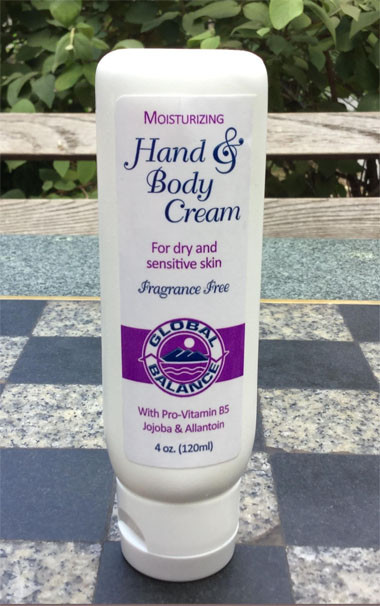 tube of Global Balance Hand & Body Cream