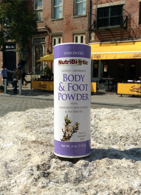 container of NutriBiotic Body & Foot Powder