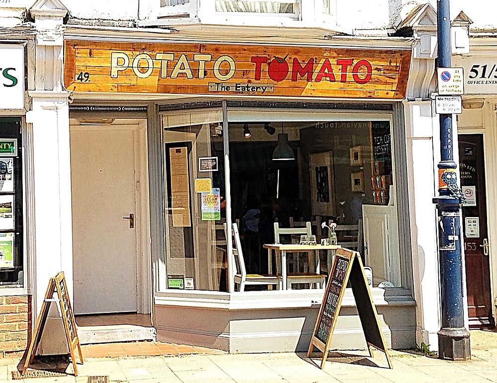 streeet view of Potato Tomato restaurant