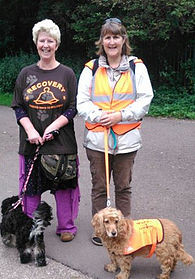 Me leading everyone on the Sponsored Dog Walk