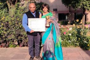 At the award ceremony