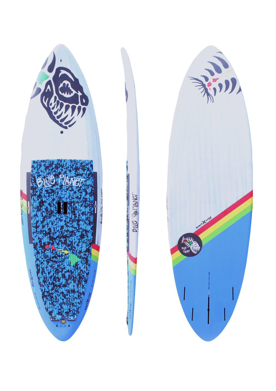 8'4x28 Ninja Star wht-blue carbon
